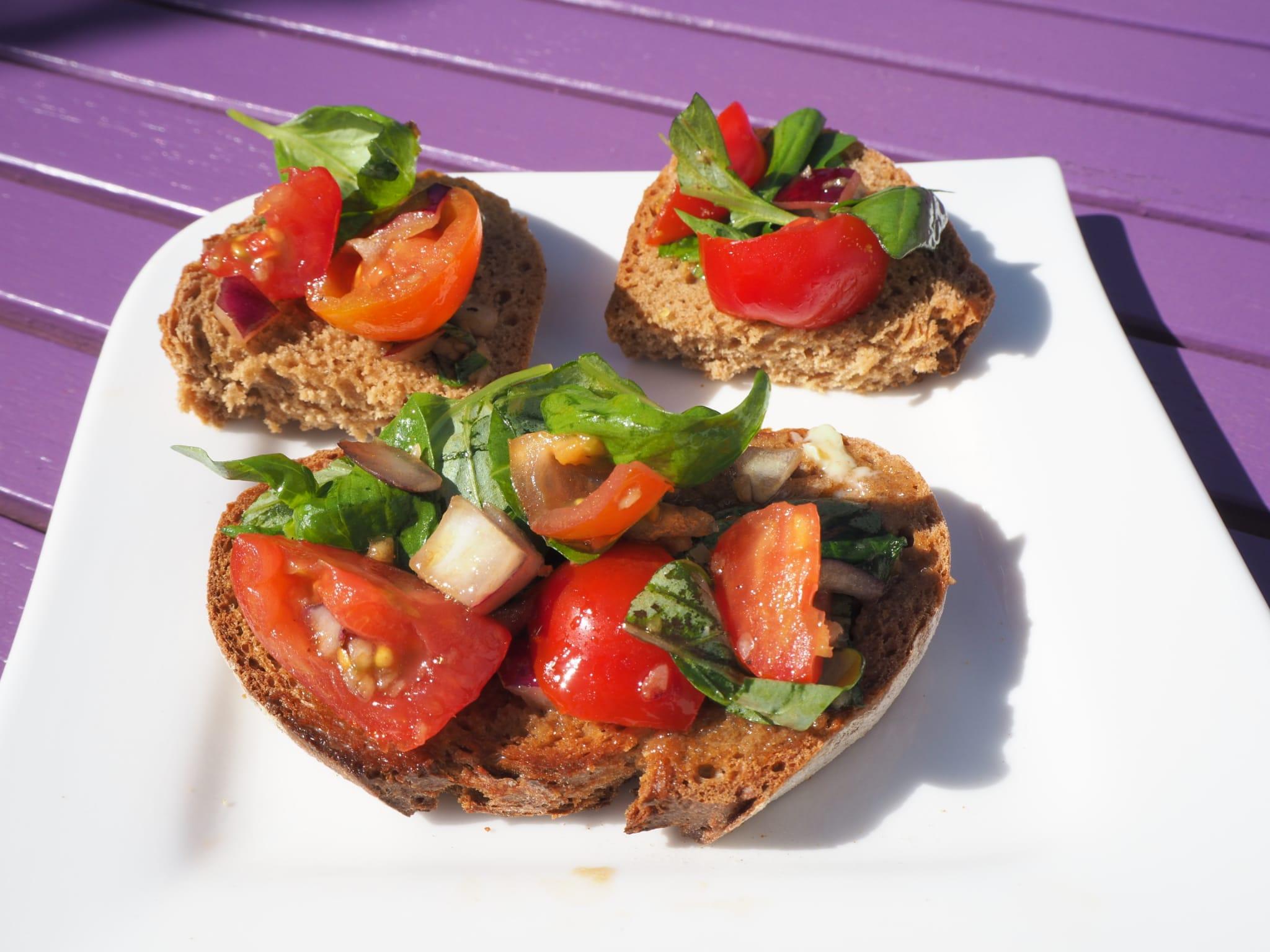 Simple Bruchetta Mary Carmody Nutrition